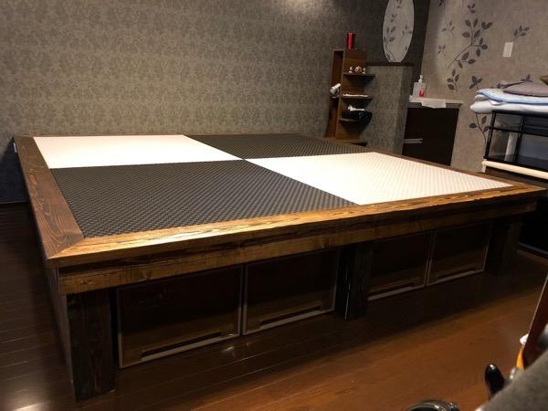 琉球畳を敷いた小上がり_2