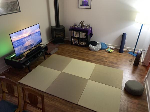 アメリカのお客様の畳の使い方 瞑想用