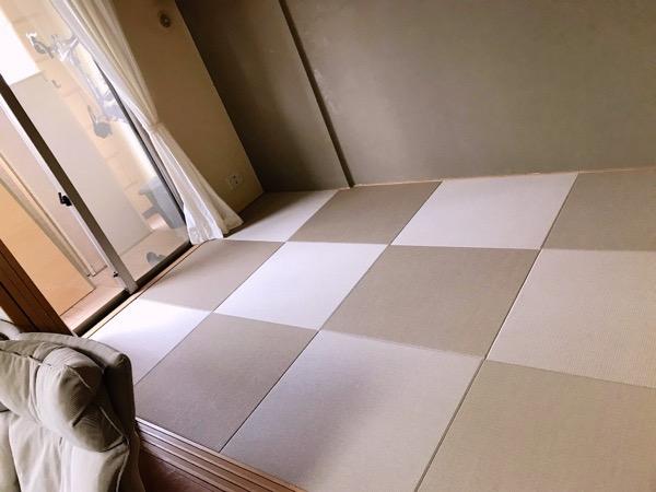 畳を敷いて和室の完成
