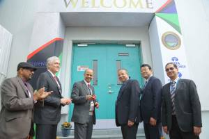 Mr. PK Pujari, Chairman, CERC inaugurating South Asia's Largest Grid-Scale Battery Energy Storage System (BESS) at TATA Power-DDL's substation at Rohini, New Delhi today in the presence of Mr. Praveer Sinha, CEO & Managing Director, TATA Power, Mr. Andrés Gluski, President and CEO, AES Corp., Mr. Yoji Taguchi, Chairman & MD, Mitsubishi Corporation India, Mr. TK Pandey, Principal Resident Commissioner of Odisha Government in New Delhi