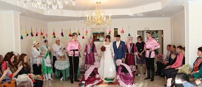 В сахалинских Ногликах зарегистрирован брак с элементами старинных свадебных обрядов татарской народной свадьбы