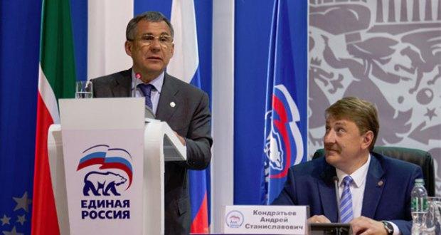 Рустам Минниханов выдвинут кандидатом в Президенты Татарстана от «Единой России»