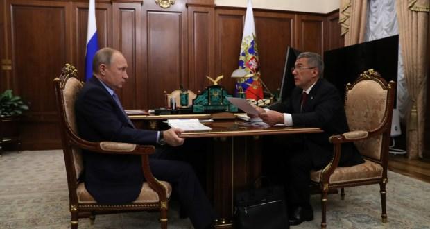 Россия Федерациясе Президенты Владимир Путин белән Рөстәм Миңнехановның эшлекле әңгәмәсе булды