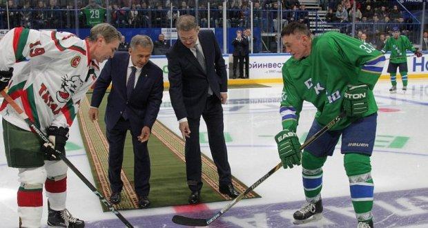 Уфада хоккей ветераннары көч сынашты