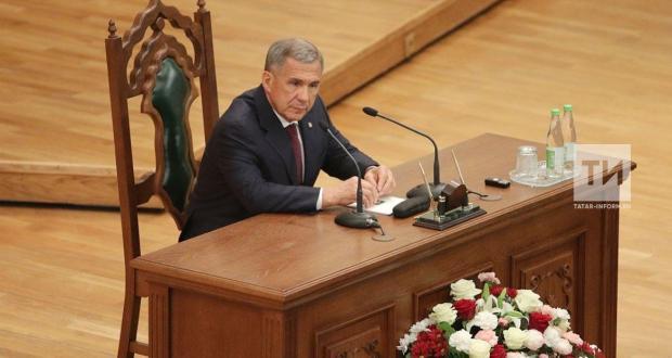 Миңнеханов: ТАССР 100 еллыгы заманча дәүләтчелекнең башлангычы турында искәртә