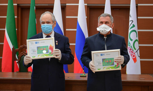 ТАССРның 100 еллыгы уңаеннан махсус конверт һәм истәлек акчасы чыкты