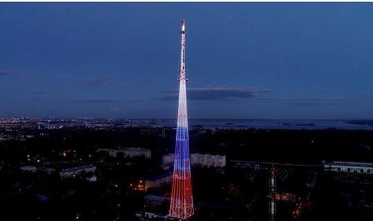 В честь Дня голосования по поправкам на телебашне Казани загорится российский триколор
