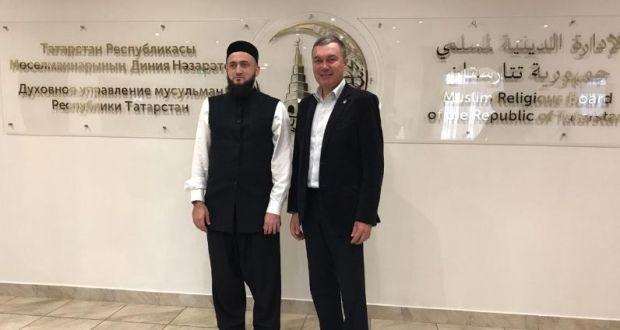 Постоянный представитель Республики Татарстан Ренат Валиуллин встретился с муфтием Татарстана