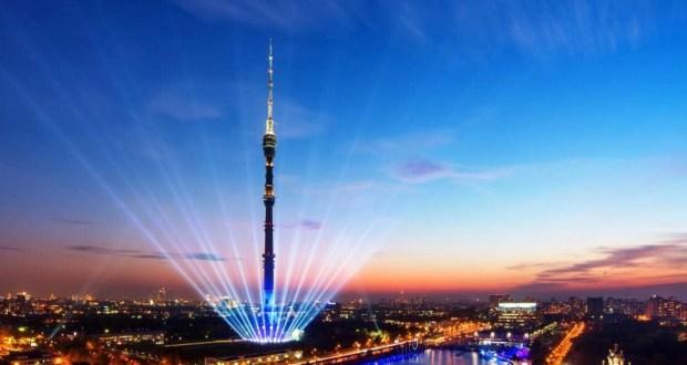 Останкинская телебашня окрасилась в цвета флага Татарстана