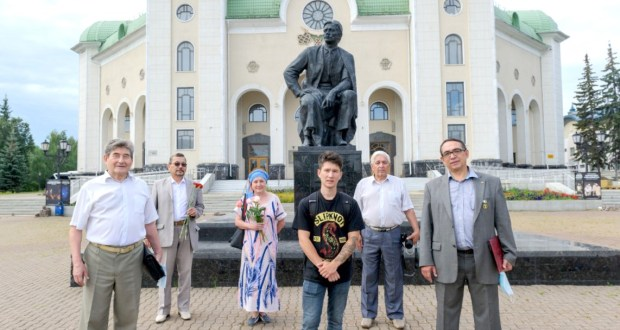 The memory of Mazhit Gafuri    in Ufa  honored