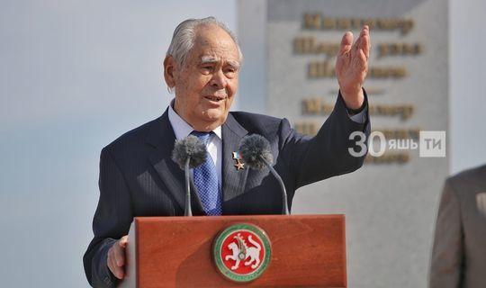 Минтимер Шәймиев бюст ачылышында: Бу — гомуми хезмәт һәм горурлык