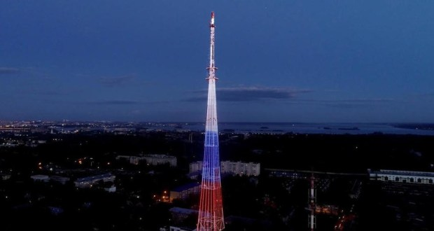 Kazan TV Tower will  assume   colors of the Tatarstan flag during the elections