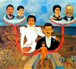 """""""Mis abuelos, mis padres y yo"""" de Frida Kahlo 1936"""