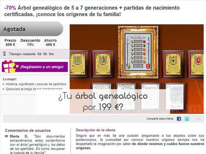 ¿Tu árbol genealógico por 199 €?