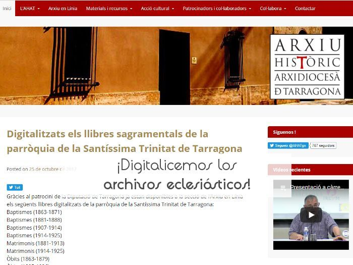 ¡Digitalicemos los archivos eclesiásticos!