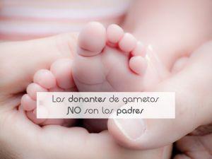 Los donantes de gametos NO son los padres