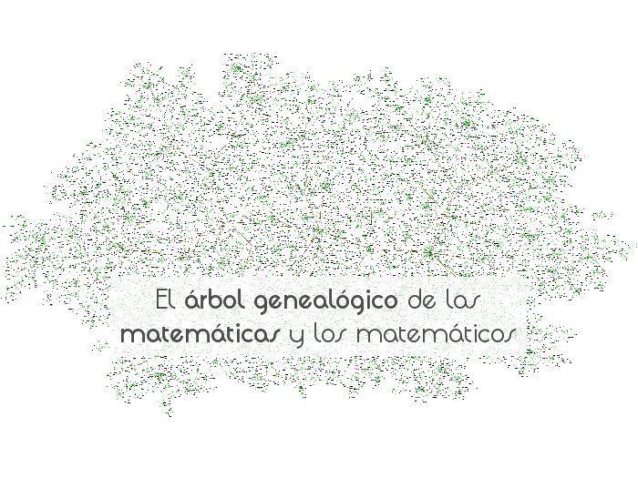 El árbol genealógico de las matemáticas y los matemáticos