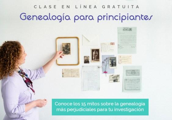 """Clase en línea gratuita """"Genealogía para principiantes"""""""
