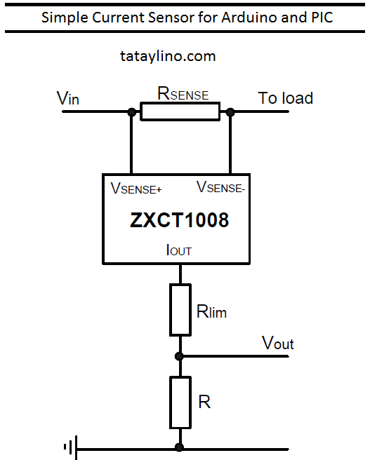 Simple Current Sensor for Arduino and PIC
