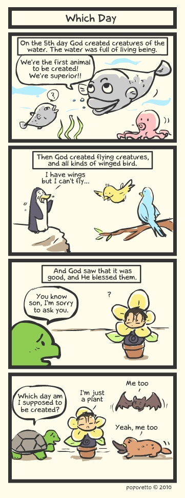 Genesis Bible Comic – Which Day