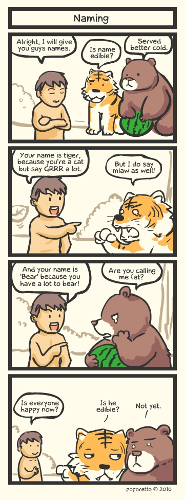 Genesis Bible Comic – Naming