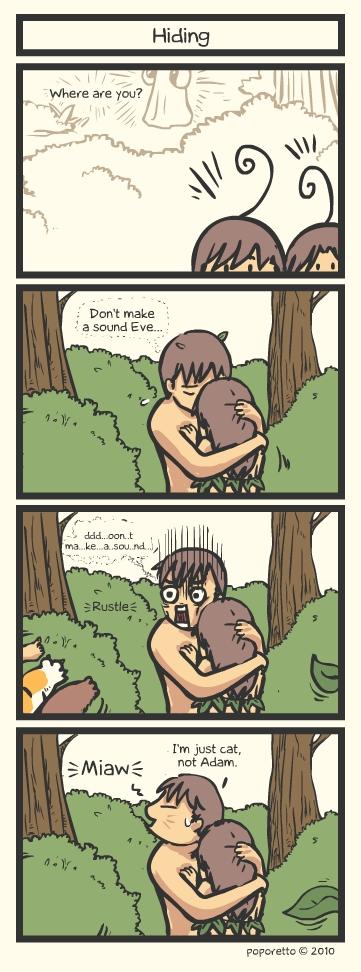 Genesis Bible Comic – Hiding