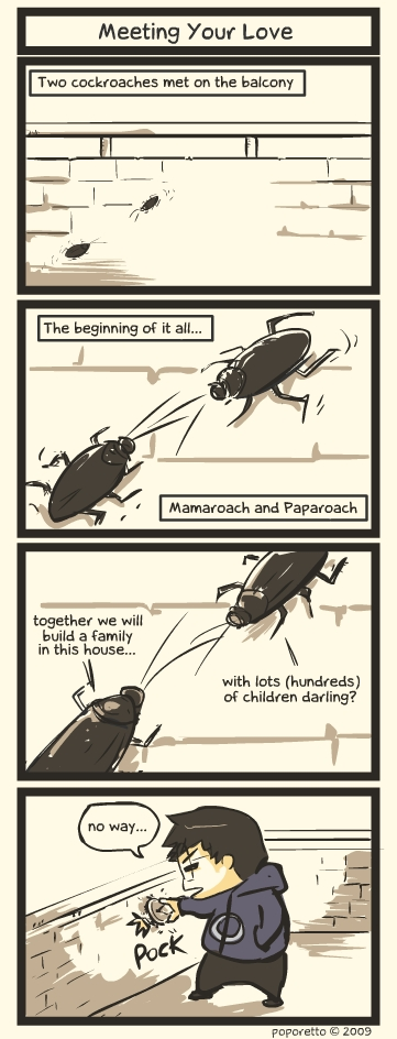 This and that comic strip cockroaches meeting their love
