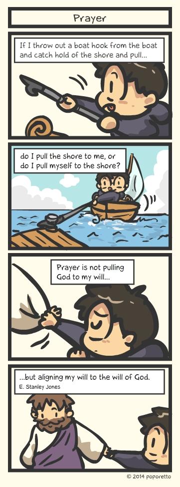 Christian comic strip Prayer life as christian stanley Jones