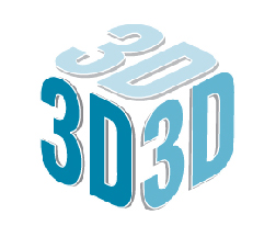 """""""3D"""" laid out to resemble a three-dimensional cube"""