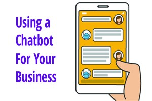 Mobile user talking to chatbot