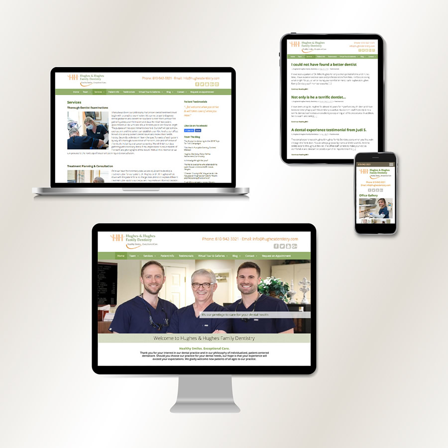 Delivering Results With A Website Redesign For Hughes Dentistry