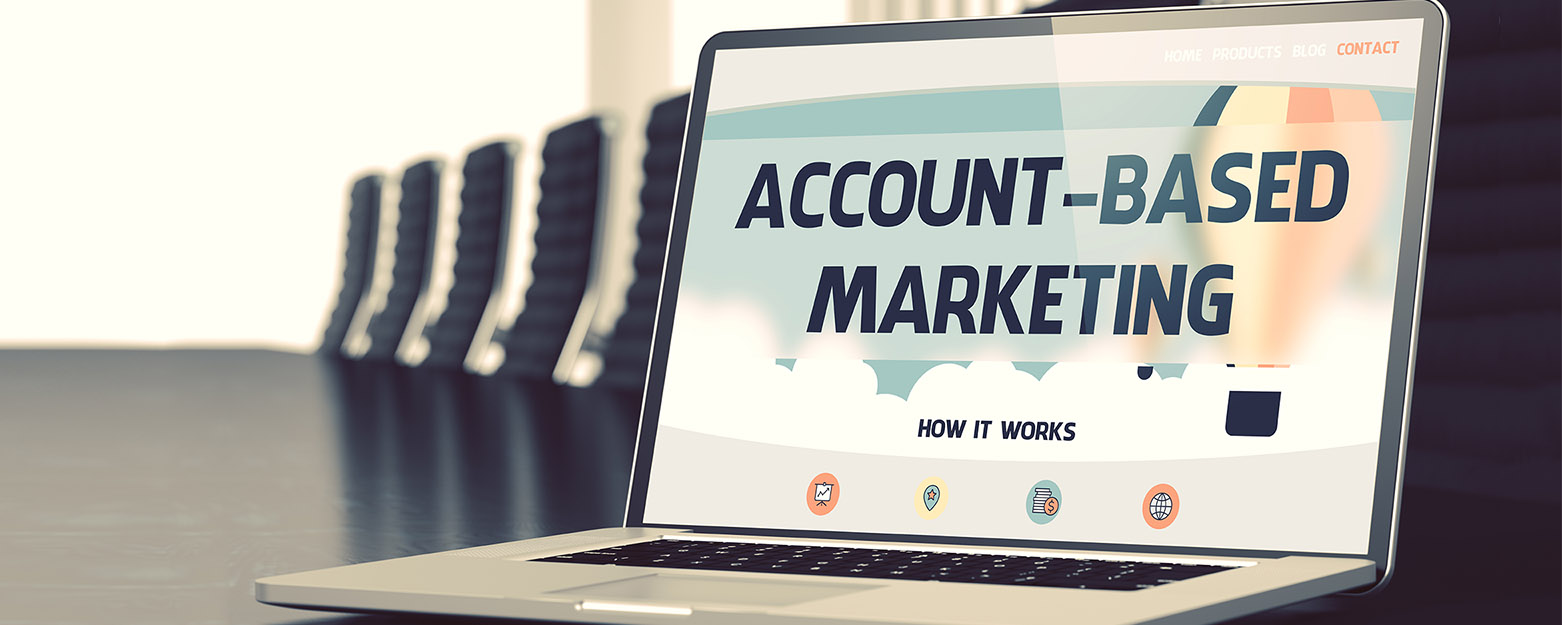 account-based marketing on laptop screen