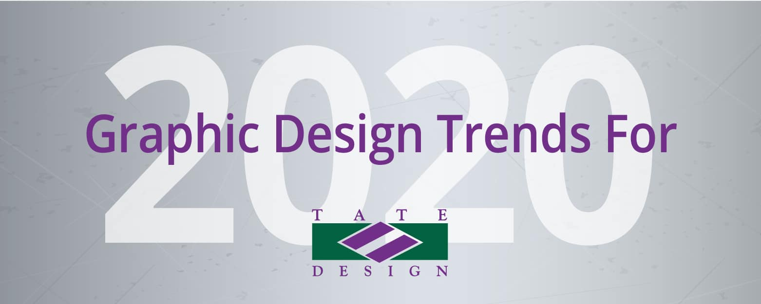 Graphic Design Trends for 2020 on metallic background