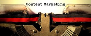 Content Marketing typed on page
