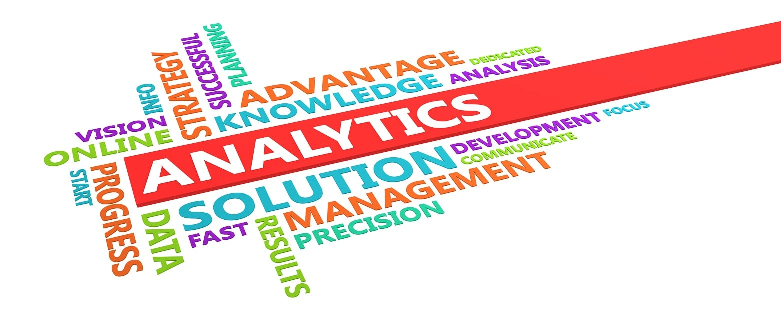 Analytics word cloud Analytics advantage knowledge solutions progress strategy planning successful results