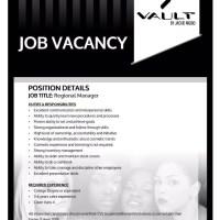 VAULT cosmetics hiring Regional Manager #ZIMFashionJOBS