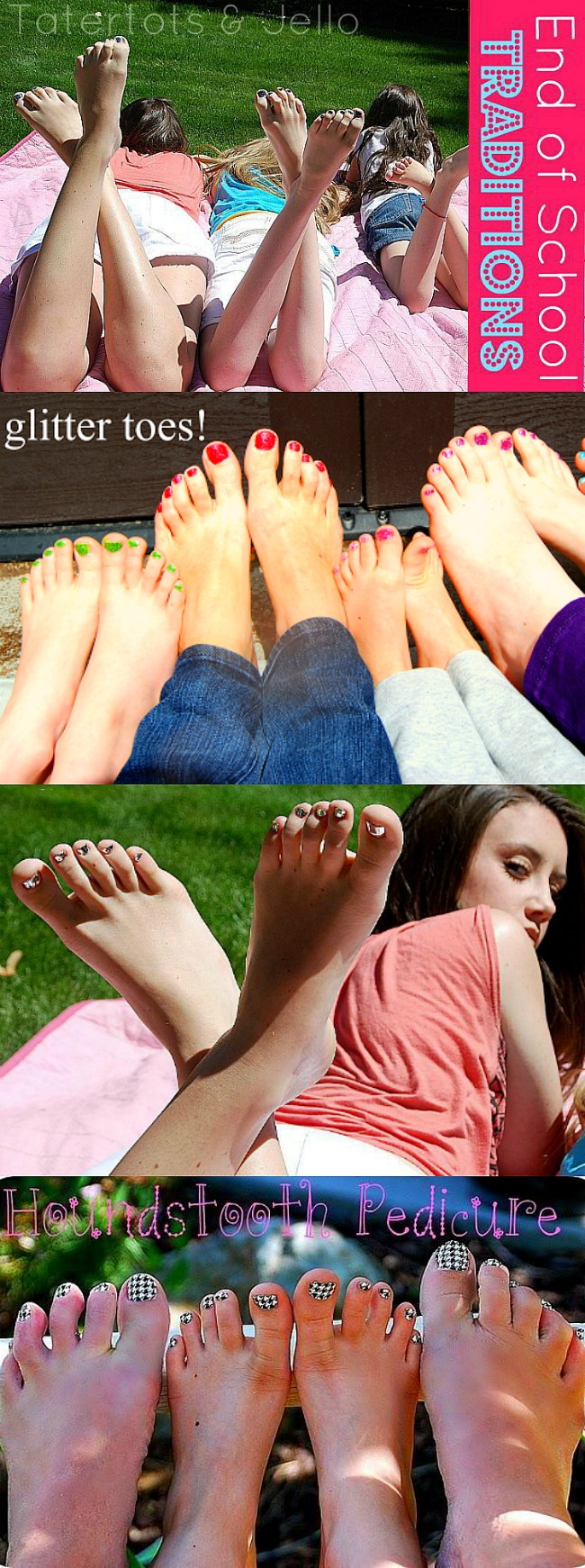 Glitter Toes Pedicures. This is the end of year tradition I have been doing with my girls for 8 years.
