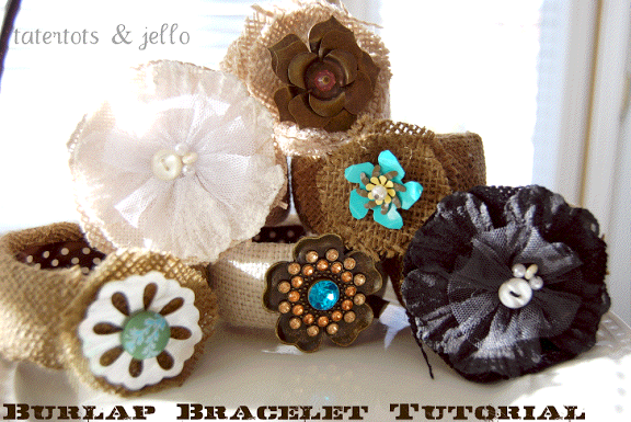 More Burlap Projects: Burlap Bracelets!