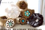 More Burlap Projects: Burlap Bracelets!