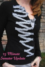 15 minute Sweater Refashion for $2