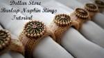 Burlap Napkin Rings Tutorial {Dollar Store Project}
