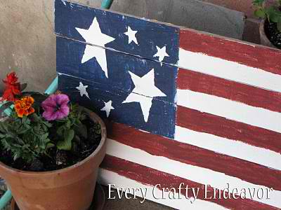 Guest Project: Rustic Garden Fourth of July Flag Tutorial