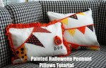 Painted Halloween Pennant Pillow Tutorial