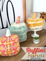 Fall Project — Ruffled Fabric Pumpkins!