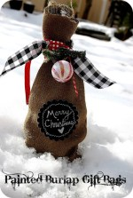 Neighbor Gift Idea — Make Burlap & Chalkboard Gift Bags!!
