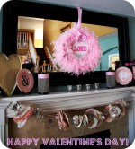 My Mantels love a good Party! {Valentine's Day ♥ Mantel Decorating}