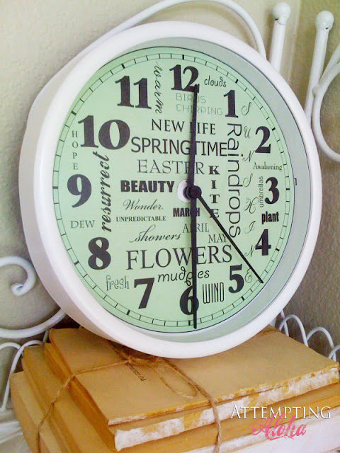 Guest Project Make A Spring Subway Art Clock With Free Printable