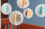 Guest Project — Make a Hanging Fabric Doily Mobile!!