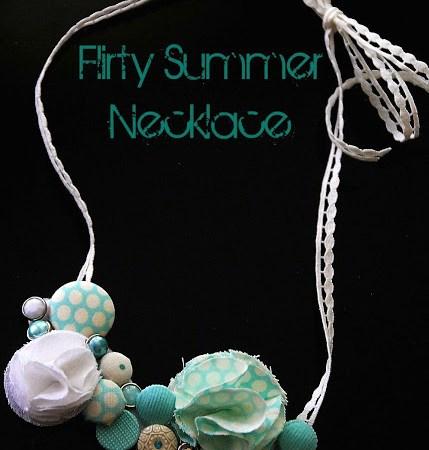 Make a Flirty Summer Button Necklace!! {tutorial}