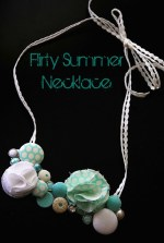 Make a Flirty Summer Button Necklace!! {tutorial}